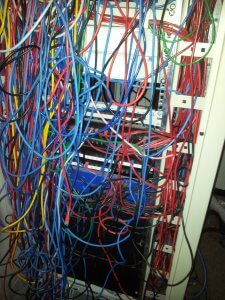 data cabling mess